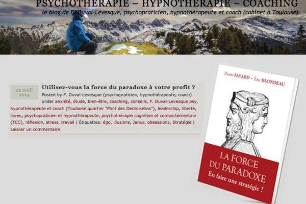 Psychothérapeute – April 2014
