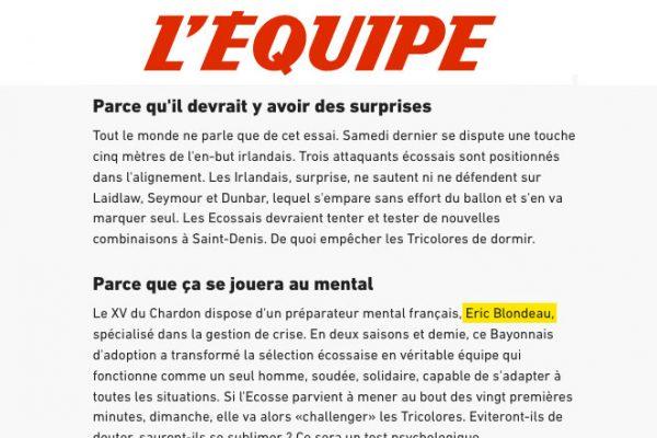 L'EQUIPE – FEBRUARY 2017