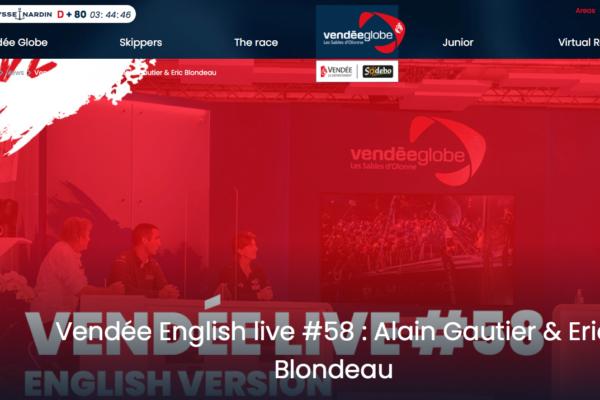 VENDEE ENGLISH LIVE #58 – JANUARY 2021